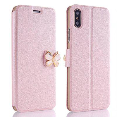 Buy ROSE GOLD Luxury Leather Wallet Stand Flip Fashion Bling Diamond Butterfly Bow Knot Cover Slot Card for iPhone X Case for $3.93 in GearBest store