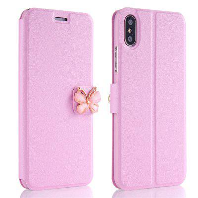 Buy PINK Luxury Leather Wallet Stand Flip Fashion Bling Diamond Butterfly Bow Knot Cover Slot Card for iPhone X Case for $3.93 in GearBest store