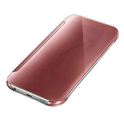 Luxury Clear Mirror Surface Flip Mobile Phone Accessories Case for Samsung Galaxy S7 Cover