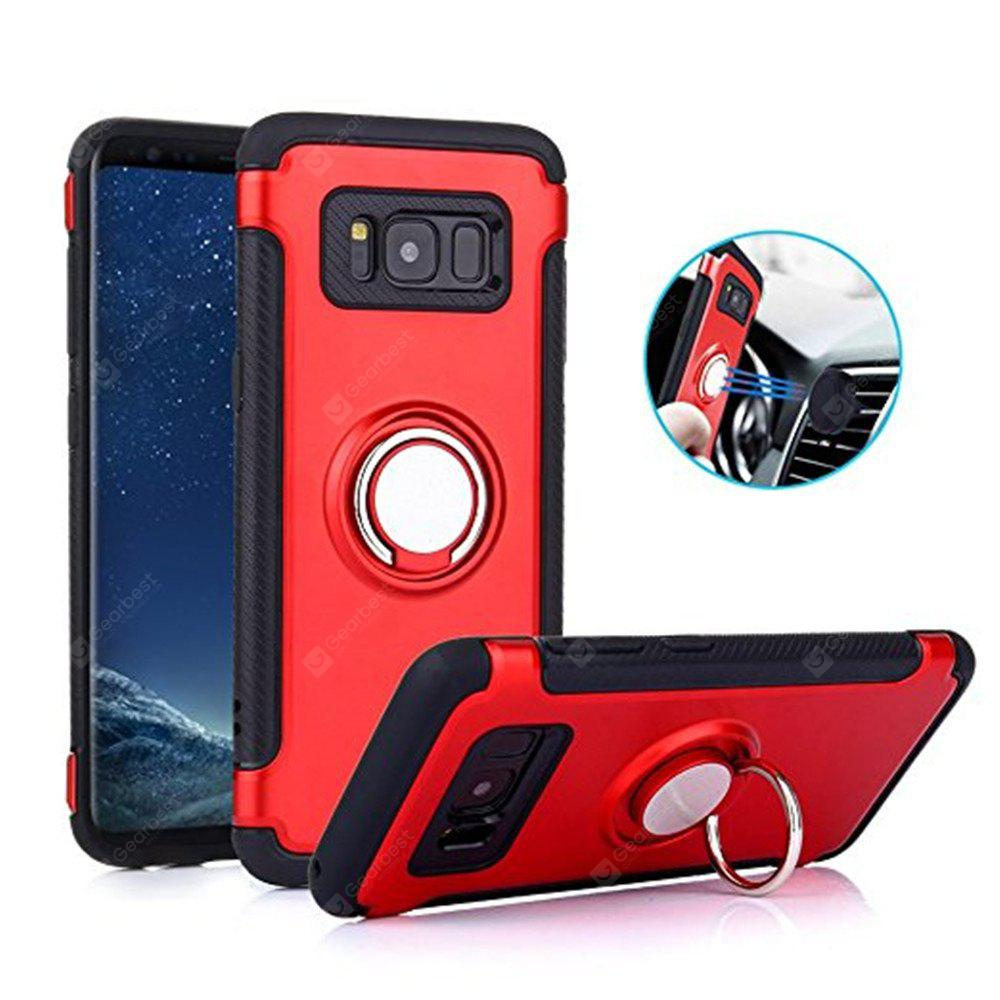 Car Holder Stand Magnetic Suction Bracket Finger Ring TPU + PC for Samsung Galaxy S8 Plus Cover