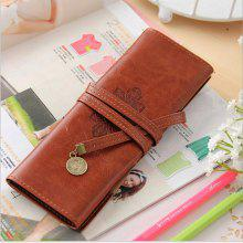 Creative Stationery Bag Retro Roll PU Pencil Case