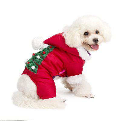 Christmas Winter Jumpsuit for Small Dogs
