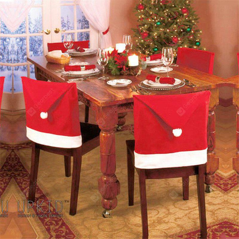 5pcs Christmas Decoration Red Hat Chair Cover