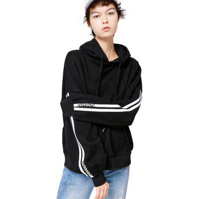 Toyouth Sweatshirts Casual Logo Embroidery Loose Pullover Hoodies