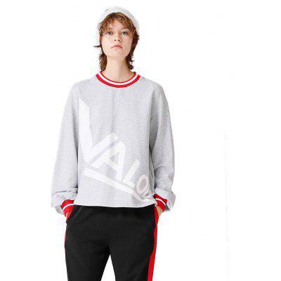 Toyouth Sweatshirts Loose Letter Printing Casual Pullovers Sweatshirt