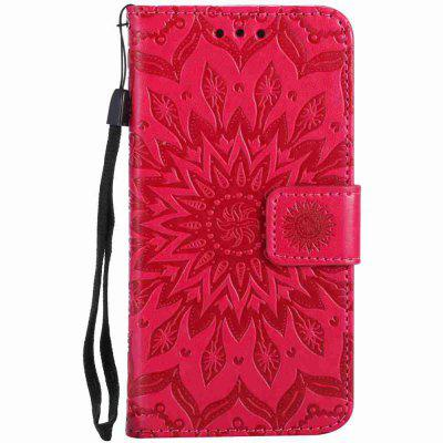 Double Embossed Sun Flower PU TPU Phone Case for  iPhone 7 / 8iPhone Cases/Covers<br>Double Embossed Sun Flower PU TPU Phone Case for  iPhone 7 / 8<br><br>Features: Cases with Stand, With Credit Card Holder, With Lanyard, Anti-knock, Dirt-resistant, Wallet Case<br>Material: PU Leather, TPU<br>Package Contents: 1 x Phone Case<br>Package size (L x W x H): 14.10 x 7.90 x 1.80 cm / 5.55 x 3.11 x 0.71 inches<br>Package weight: 0.0550 kg<br>Product weight: 0.0540 kg<br>Style: Pattern, Solid Color, Ultra Slim, Designed in China, Novelty