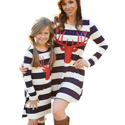 SOSOCOER Mother and Daughter Dresses Striped Family Clothes 2017 New Spring Autumn Long Sleeve