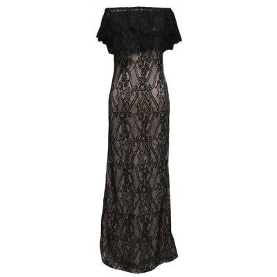 2017 New Sexy Strapless Lace Gown Dress