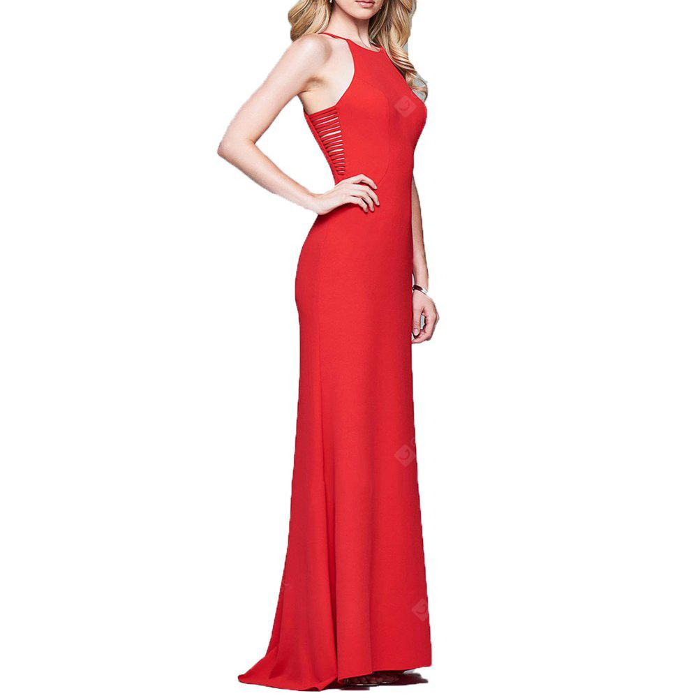 2017 New Sexy Bag Buttock and Sleeveless Shoulder Gown