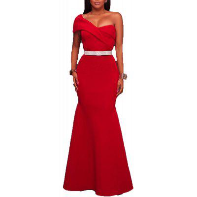 2017 New Red Sexy Sleeveless Dress