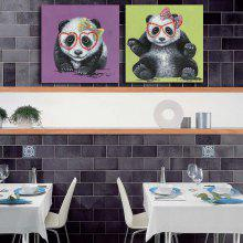 Happy Art Handed  Canvas Fashion Panda Oil Painting