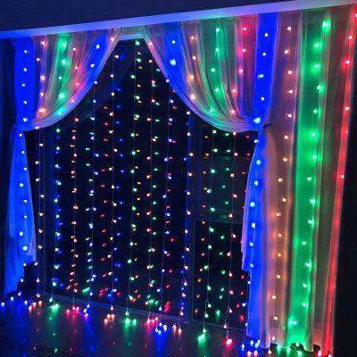 SUPli 300 LED Window Curtain String Light for Wedding Party Home Garden Bedroom Outdoor Indoor Wall Decorations