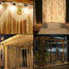 SUPli 300 LED Window Curtain String Light for Wedding Party Home Garden Bedroom Outdoor Indoor Wall Decorations - WARM WHITE