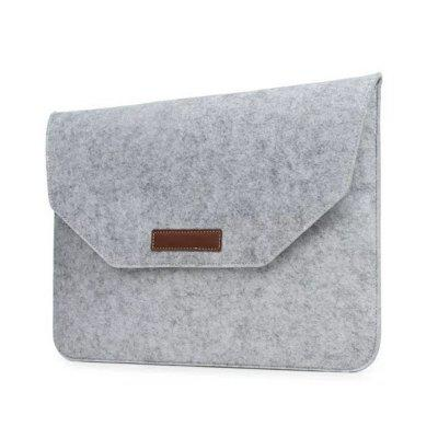 Wkae Soft Felt and Leather Envelope Sleeve Bag for Laptop Macbook and Tablet 13.3 inch
