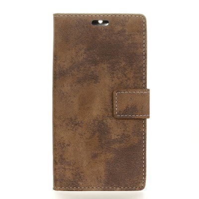 Buy BROWN KaZiNe Retro PU Leather Silicon Magnetic Dirt Resistant Phone Case for Samsung Galaxy J3 2017 for $3.68 in GearBest store