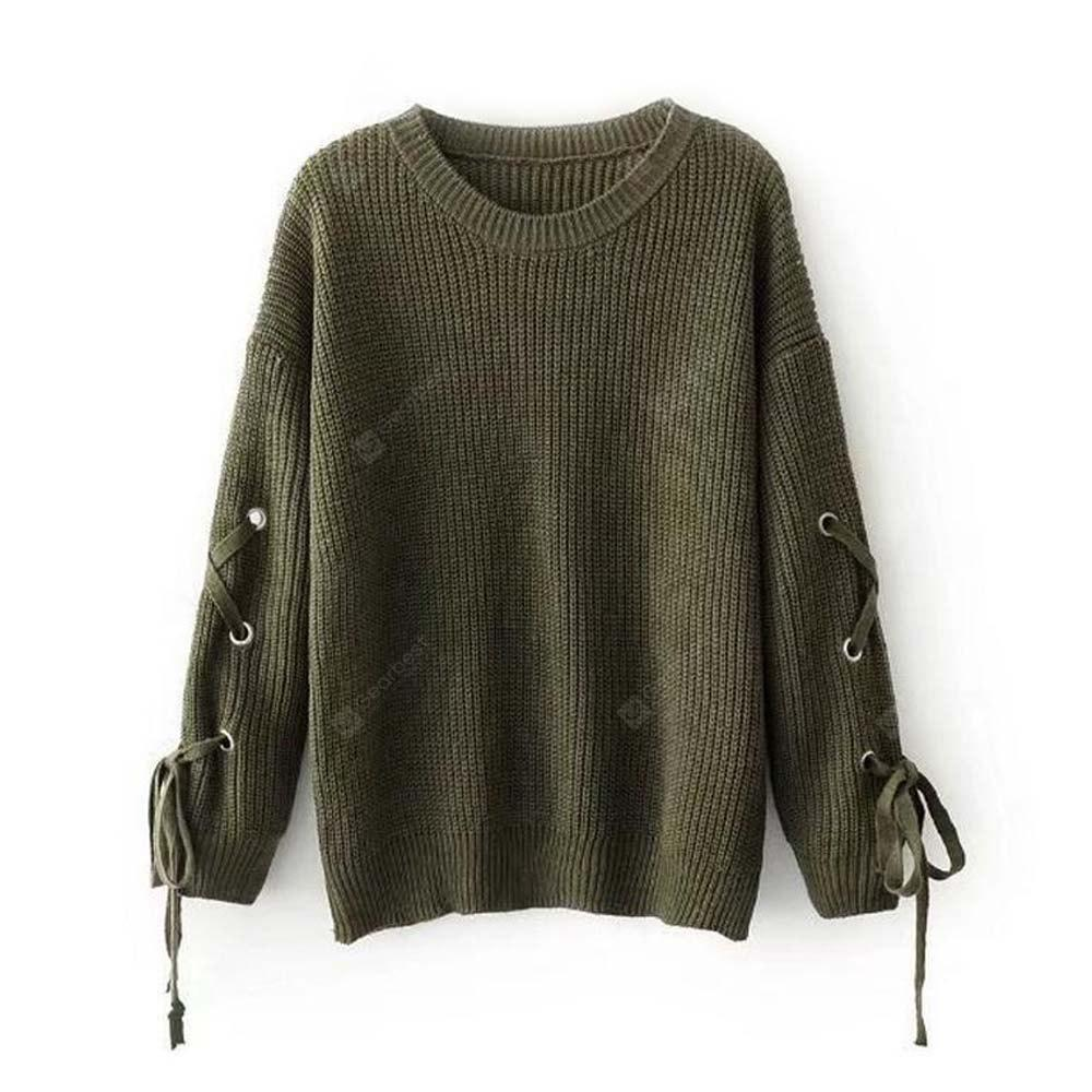 Long Sleeved Loose Turtleneck Sweater Cuff Pure Female