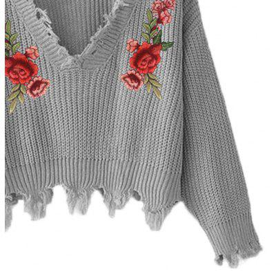 Ladies Embroidery Applique V Collar Tassels Short Knitted Pullover SweaterSweaters &amp; Cardigans<br>Ladies Embroidery Applique V Collar Tassels Short Knitted Pullover Sweater<br><br>Collar: V-Neck<br>Elasticity: Elastic<br>Material: Polyester<br>Package Contents: 1?Sweater<br>Sleeve Length: Full<br>Style: Fashion<br>Technics: Flat Knitted<br>Type: Pullovers<br>Weight: 0.3000kg