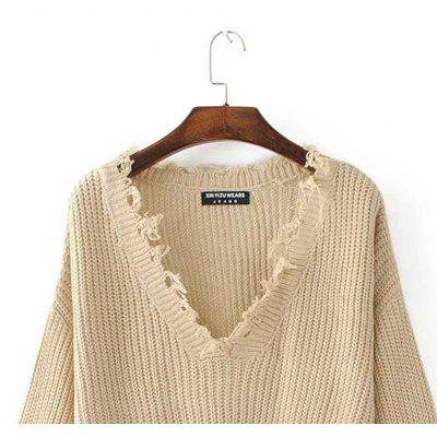 V Collar Irregular Loose Sweater Knit Sweater TasselSweaters &amp; Cardigans<br>V Collar Irregular Loose Sweater Knit Sweater Tassel<br><br>Collar: Plunging Neck<br>Elasticity: Micro-elastic<br>Material: Polyester<br>Package Contents: 1?Sweater<br>Sleeve Length: Full<br>Style: Fashion<br>Technics: Flat Knitted<br>Type: Pullovers<br>Weight: 0.3000kg