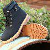 Men'S Outdoor Labor Protection Work Snow Warm Protection High Boots - BLACK