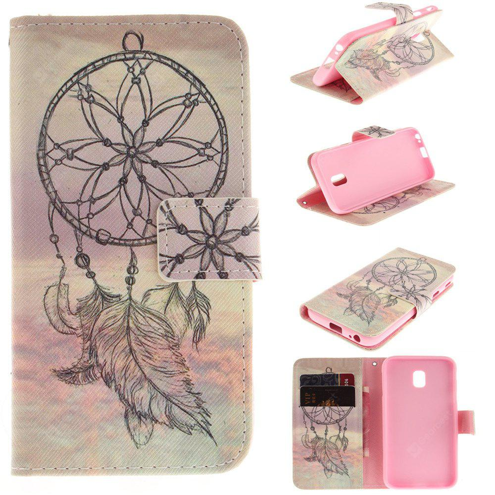 Dream Catcher PU+TPU Leather Case Design with Stand and Card Slots Magnetic Closure for Samsung Galaxy J7 2017 J730 EU Version