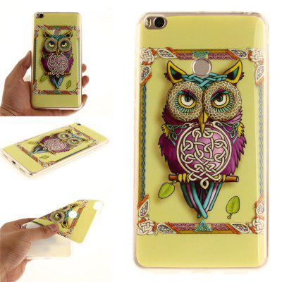 Owl Pattern IMD TPU Phone Casing Mobile Smartphone Cover Shell Case for Xiaomi Mi Max 2