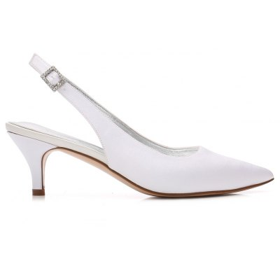Womens Wedding Shoes Kitten Heel Ankle Strap Comfort Basic Pump Spring Summer Satin Wedding Party &amp; Evening Dress Rhinestone Sparkling GlitterWomens Pumps<br>Womens Wedding Shoes Kitten Heel Ankle Strap Comfort Basic Pump Spring Summer Satin Wedding Party &amp; Evening Dress Rhinestone Sparkling Glitter<br><br>Heel Height: 6cm<br>Heel Height Range: Med(1.75-2.75)<br>Heel Type: Kitten Heel<br>Insole Material: PU<br>Lining Material: PU<br>Occasion: Wedding<br>Outsole Material: Rubber<br>Package Contents: 1 x Shoes?pair?<br>Pumps Type: Basic<br>Season: Summer<br>Toe Shape: Pointed Toe<br>Toe Style: Closed Toe<br>Upper Material: Satin<br>Weight: 1.0440kg