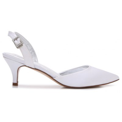 Womens Wedding Shoes Comfort Basic Pump Ankle Strap Spring Summer Satin Wedding Dress Party  Rhinestone Sparkling GlitterWomens Pumps<br>Womens Wedding Shoes Comfort Basic Pump Ankle Strap Spring Summer Satin Wedding Dress Party  Rhinestone Sparkling Glitter<br><br>Heel Height: 6cm<br>Heel Height Range: Med(1.75-2.75)<br>Heel Type: Kitten Heel<br>Insole Material: PU<br>Lining Material: PU<br>Occasion: Wedding<br>Package Contents: 1 x Shoes?pair?<br>Pumps Type: Basic<br>Season: Summer<br>Toe Shape: Pointed Toe<br>Toe Style: Closed Toe<br>Upper Material: Satin<br>Weight: 1.0440kg