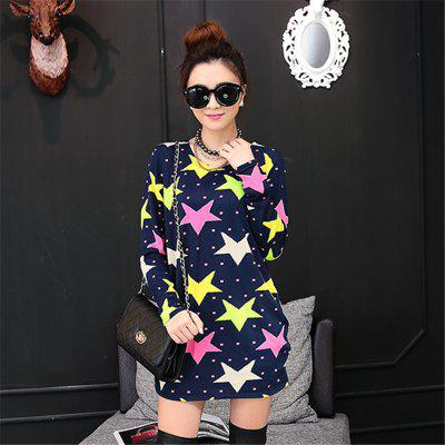 Womens Fashion Printing Colored Pentagram Loose Long-Sleeved T-ShirtTees<br>Womens Fashion Printing Colored Pentagram Loose Long-Sleeved T-Shirt<br><br>Collar: Round Neck<br>Elasticity: Micro-elastic<br>Fabric Type: Broadcloth<br>Material: Polyester<br>Package Contents: 1 x T-shirt<br>Pattern Type: Geometric<br>Shirt Length: Regular<br>Sleeve Length: Full<br>Style: Casual<br>Weight: 0.1800kg