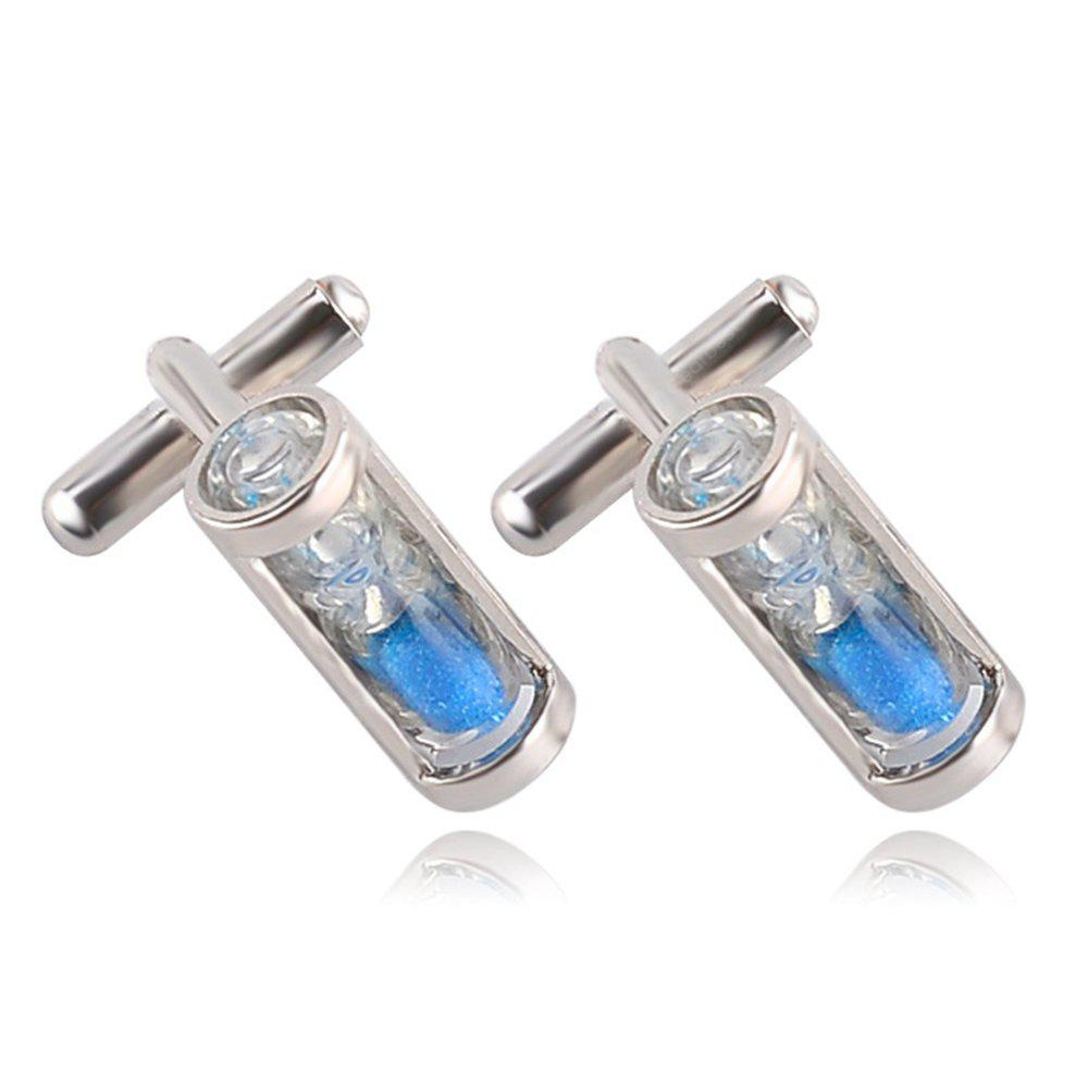 Men's Hourglass Crystal French Cuff Buttons Accessory