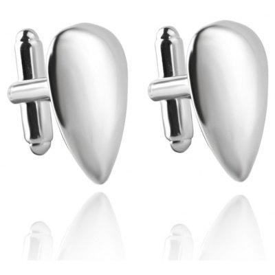 Men's Cufflinks Bright Water-drop Shape Solid Color Cuff Buttons Accessory