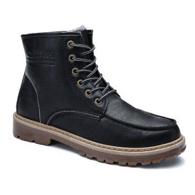 Men Winter Cotton Padded Worker Boots