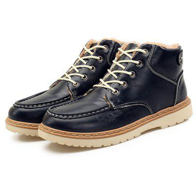 """Men Cotton-Padded Retro Fashion Men BootsMens Boots<br>Men Cotton-Padded Retro Fashion Men Boots<br><br>Boot Height: Ankle<br>Boot Type: Fashion Boots<br>Closure Type: Lace-Up<br>Embellishment: None<br>Gender: For Men<br>Heel Hight: Low(0.75""""-1.5"""")<br>Heel Type: Flat Heel<br>Outsole Material: Rubber<br>Package Contents: 1?Shoes(pair)<br>Pattern Type: Others<br>Season: Winter<br>Toe Shape: Round Toe<br>Upper Material: PU<br>Weight: 1.0200kg"""