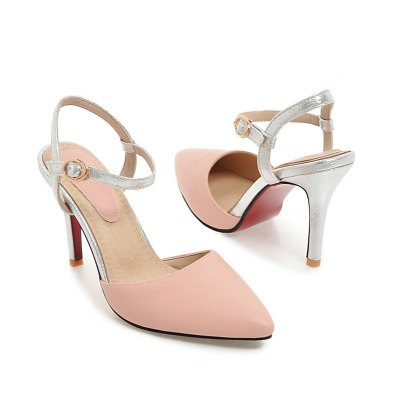 Women Shoes Ankle Strap Buckle Strap Dress Thin Heels High Heel SandalsWomens Sandals<br>Women Shoes Ankle Strap Buckle Strap Dress Thin Heels High Heel Sandals<br><br>Available Color: Black, White, Yellow, Pink<br>Available Size: 32-43<br>Closure Type: Buckle Strap<br>Embellishment: Metal<br>Gender: For Women<br>Heel Height: 9<br>Heel Height Range: High(3-3.99)<br>Heel Type: Stiletto Heel<br>Insole Material: PU<br>Lining Material: PU<br>Occasion: Wedding<br>Outsole Material: Rubber<br>Package Content: 1xShoes(pair)<br>Pattern Type: Solid<br>Platform Height: 1<br>Sandals Style: Ankle Strap<br>Shoe Width: Medium(B/M)<br>Style: Elegant<br>Technology: Adhesive<br>Upper Material: PU<br>Weight: 1.5400kg