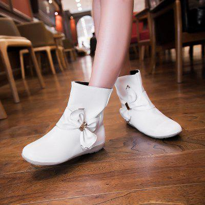 Womens Boots Winter Comfort Casual Low Heel Bowknot ZipperWomens Boots<br>Womens Boots Winter Comfort Casual Low Heel Bowknot Zipper<br><br>Boot Height: Mid-Calf<br>Boot Tube Circumference: 28<br>Boot Tube Height: 13<br>Boot Type: Riding/Equestrian<br>Closure Type: Zip<br>Embellishment: Bow<br>Gender: For Women<br>Heel Height: 1<br>Heel Height Range: Flat(0-0.5)<br>Heel Type: Flat Heel<br>Insole Material: PU<br>Lining Material: PU<br>Outsole Material: Rubber<br>Package Contents: 1xShoes(pair)<br>Pattern Type: Bowknot<br>Platform Height: 1<br>Season: Winter<br>Shoe Width: Medium(B/M)<br>Toe Shape: Round Toe<br>Upper Material: PU<br>Weight: 1.8480kg