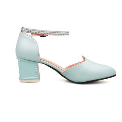 Womens Sandals Summer Chunky Heel Rhinestone Buckle Hollow-outWomens Sandals<br>Womens Sandals Summer Chunky Heel Rhinestone Buckle Hollow-out<br><br>Available Color: Blue white pink<br>Available Size: 33-43<br>Closure Type: Buckle Strap<br>Embellishment: Metal<br>Gender: For Women<br>Heel Height: 6<br>Heel Height Range: Med(1.75-2.75)<br>Heel Type: Chunky Heel<br>Insole Material: PU<br>Lining Material: PU<br>Occasion: Wedding<br>Outsole Material: Rubber<br>Package Content: 1xShoes(pair)<br>Pattern Type: Solid<br>Platform Height: 1<br>Sandals Style: Ankle Strap<br>Shoe Width: Medium(B/M)<br>Style: Sweet<br>Technology: Adhesive<br>Upper Material: PU<br>Weight: 1.5400kg