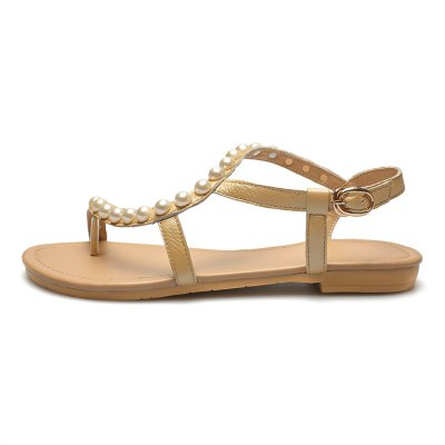 Womens Sandals Summer Comfort Leather Casual Flat Heel Imitation Pearl BuckleWomens Sandals<br>Womens Sandals Summer Comfort Leather Casual Flat Heel Imitation Pearl Buckle<br><br>Available Color: Apricot white<br>Available Size: 34-41<br>Closure Type: Buckle Strap<br>Embellishment: Beading<br>Gender: For Women<br>Heel Height: 1<br>Heel Height Range: Flat(0-0.5)<br>Heel Type: Flat Heel<br>Insole Material: PU<br>Lining Material: PU<br>Occasion: Casual<br>Outsole Material: Rubber<br>Package Content: 1xShoes(pair)<br>Pattern Type: Solid<br>Platform Height: 1<br>Sandals Style: Gladiator<br>Shoe Width: Medium(B/M)<br>Style: Elegant<br>Technology: Adhesive<br>Upper Material: Genuine Leather<br>Weight: 1.4520kg