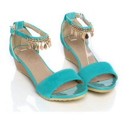 Women's Sandals Summer Comfort Leatherette Wedding Low Heel Buckle Hollow-out