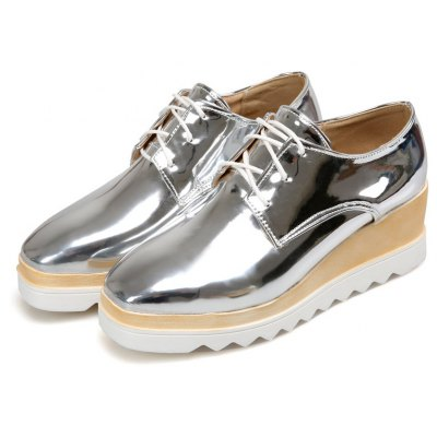 Womens Oxfords Spring Summer Creepers Casual Wedge Heel Lace-up Gray Silver Black WhiteWomens Casual Shoes<br>Womens Oxfords Spring Summer Creepers Casual Wedge Heel Lace-up Gray Silver Black White<br><br>Available Size: 34-43<br>Closure Type: Lace-Up<br>Embellishment: None<br>Flat Type: T-Strap<br>Gender: For Women<br>Insole Material: PU<br>Lining Material: PU<br>Occasion: Casual<br>Outsole Material: Rubber<br>Package Contents: 1xShoes(pair)<br>Pattern Type: Solid<br>Season: Winter, Spring/Fall<br>Shoe Width: Medium(B/M)<br>Toe Shape: Square Toe<br>Toe Style: Closed Toe<br>Upper Material: PU<br>Weight: 2.1000kg