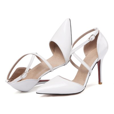 Womens Sandals Summer Club Shoes Patent Leather Wedding Stiletto Heel Buckle Black Yellow Pink White Beige OtherWomens Sandals<br>Womens Sandals Summer Club Shoes Patent Leather Wedding Stiletto Heel Buckle Black Yellow Pink White Beige Other<br><br>Available Color: Black Beige White pink yellow<br>Available Size: 32-43<br>Closure Type: Buckle Strap<br>Embellishment: Metal<br>Gender: For Women<br>Heel Height: 10<br>Heel Height Range: High(3-3.99)<br>Heel Type: Stiletto Heel<br>Insole Material: PU<br>Lining Material: PU<br>Occasion: Wedding<br>Outsole Material: Rubber<br>Package Content: 1xShoes(pair)<br>Pattern Type: Solid<br>Platform Height: 1<br>Sandals Style: Ankle Strap<br>Shoe Width: Medium(B/M)<br>Style: Elegant<br>Technology: Adhesive<br>Upper Material: PU<br>Weight: 1.4520kg