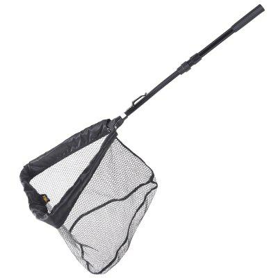 HONROEAL 95cm Aluminum Pole Waterproof Rubber Fishing Landing Net