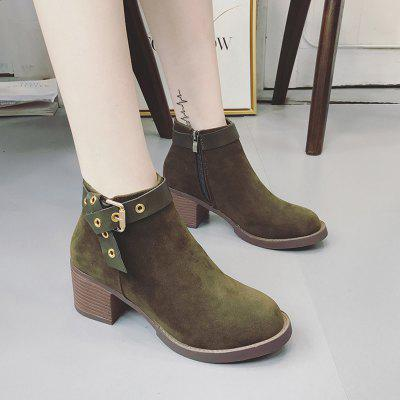 Women Fashion Autumn and Winter Ankle Buckle Martin Boots Waterproof Thick High Heel with zipperWomens Boots<br>Women Fashion Autumn and Winter Ankle Buckle Martin Boots Waterproof Thick High Heel with zipper<br><br>Boot Height: Ankle<br>Boot Type: Fashion Boots<br>Closure Type: Zip<br>Gender: For Women<br>Heel Type: Chunky Heel<br>Package Contents: 1 x Boots (Pair)<br>Pattern Type: Solid<br>Season: Winter<br>Toe Shape: Round Toe<br>Upper Material: Flock<br>Weight: 0.3000kg