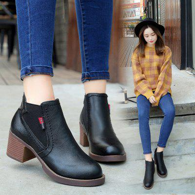 Women Fashion Autumn and Winter Ankle Martin PU Leather Boots Waterproof Thick High HeelWomens Boots<br>Women Fashion Autumn and Winter Ankle Martin PU Leather Boots Waterproof Thick High Heel<br><br>Boot Height: Ankle<br>Boot Type: Fashion Boots<br>Closure Type: Slip-On<br>Gender: For Women<br>Heel Type: Chunky Heel<br>Package Contents: 1 x Boots (Pair)<br>Pattern Type: Solid<br>Season: Winter<br>Toe Shape: Round Toe<br>Upper Material: PU<br>Weight: 0.3000kg