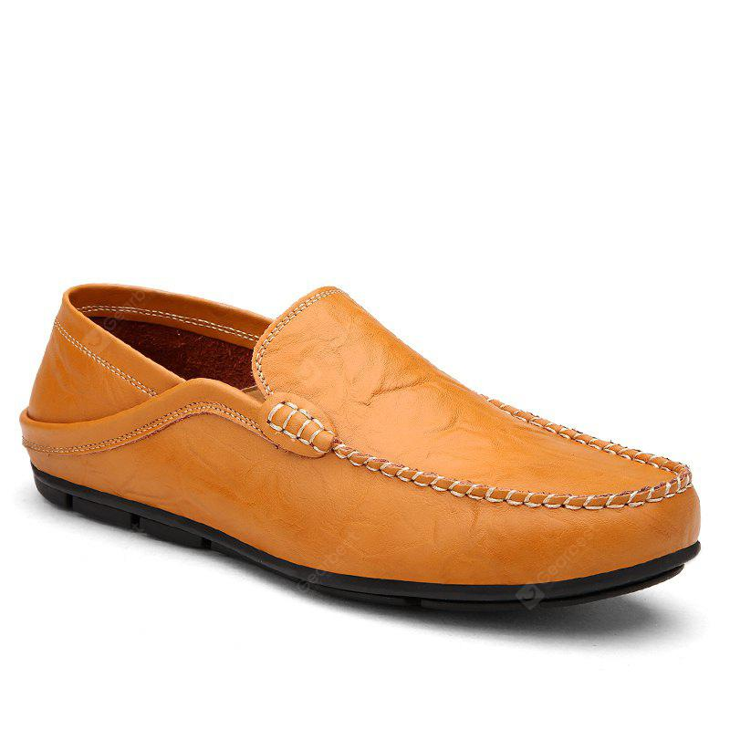 BROWN 40 Recreational Leather All-Match Comfortable Breathable Shoes