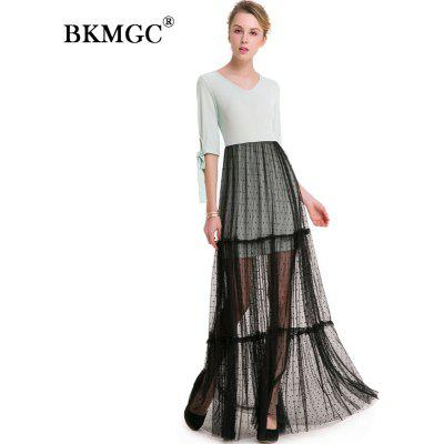 V-neck Sweet Lace Patchwork DressWomens Dresses<br>V-neck Sweet Lace Patchwork Dress<br><br>Body Shape: Petite<br>Built-in Bra: Yes<br>Dresses Length: Floor-Length<br>Embellishment: Lace<br>Fabric Type: Lace<br>Image Source: Actual Images<br>Material: Polyester<br>Neckline: V Neck<br>Package Contents: 1 x Dress<br>Season: Summer<br>Silhouette: A-Line<br>Sleeve Length: Half Sleeves<br>Waist: Naturale<br>Weight: 0.4000kg