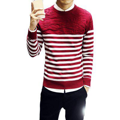 Men's Fashion Slim Fit Casual Round Neck Warm Knitted Sweater