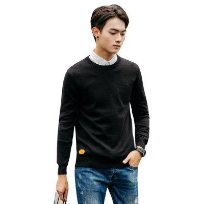 Men's Fashion Casual Long Sleeves Pullover Knitted Sweater