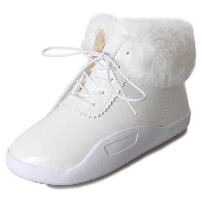 YLH-55266Head Leather Strap with Cashmere Rabbit Hair Short Barrel Boots ShoesWomens Boots<br>YLH-55266Head Leather Strap with Cashmere Rabbit Hair Short Barrel Boots Shoes<br><br>Boot Height: Ankle<br>Boot Type: Snow Boots<br>Closure Type: Lace-Up<br>Gender: For Women<br>Heel Type: Flat Heel<br>Package Contents: 1 x Shoes(pair)<br>Pattern Type: Solid<br>Season: Spring/Fall, Winter<br>Toe Shape: Round Toe<br>Upper Material: Patent Leather<br>Weight: 1.3200kg