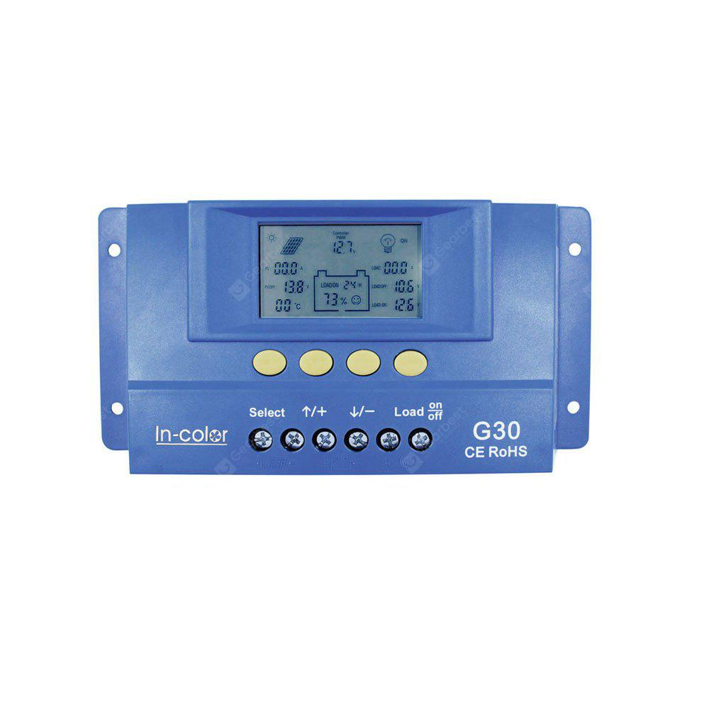 12 / 24V 30A LCD Display PWM Solar Charge Controller