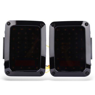 Buy BLACK LED Tail Lights with Turn Signal Reverse Lamps for Jeep Wrangler for $80.95 in GearBest store