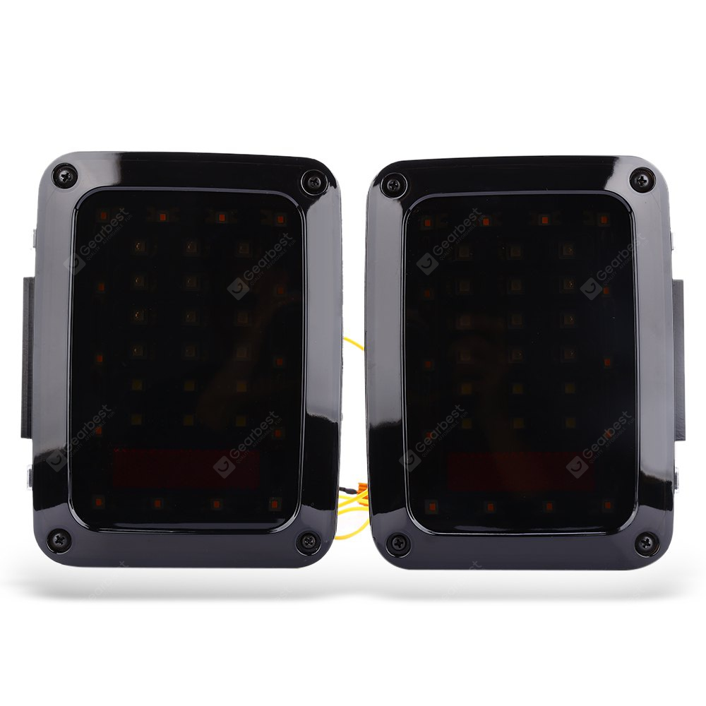 BLACK LED Tail Lights with Turn Signal Reverse Lamps for Jeep Wrangler